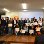 entrega premios foto familia.  dia del emprendedor emprenderioja